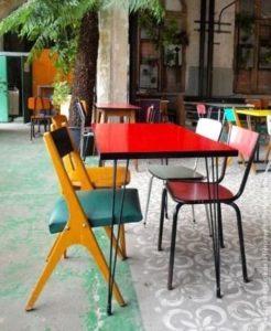 mobilier chiné restaurant