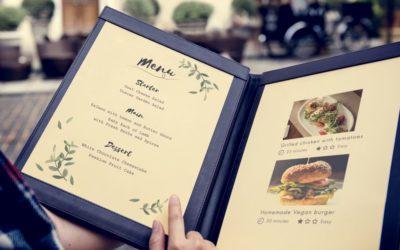 Carte de restaurant : créez un menu pour mettre vos clients en appétit
