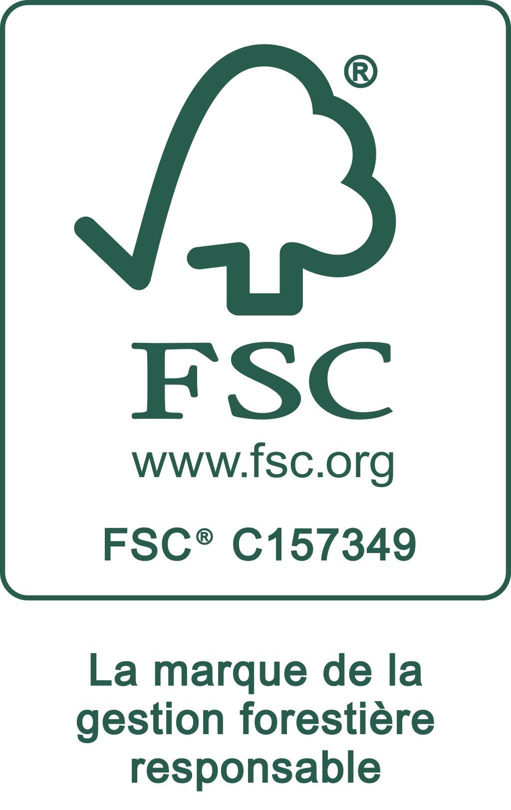 Bois certifié : FSC